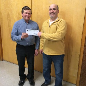 Mat Walz accepts grant from Dave Stang